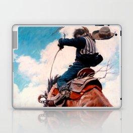 """Vintage Western Painting """"Bucking"""" by N C Wyeth Laptop & iPad Skin"""
