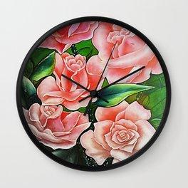 ROSAS DESVANECIENDO Wall Clock