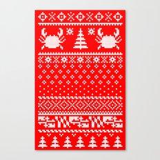 Ugly Maryland Christmas Sweater Canvas Print