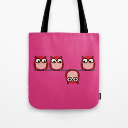 Another perspective for the owl Tote Bag