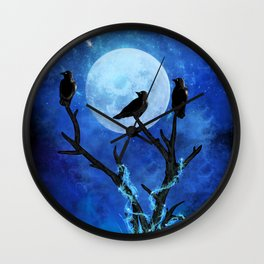 The Three Crows Wall Clock