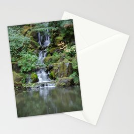 Portland Japanese Garden Waterfall Stationery Cards