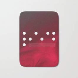 Red Abstract Passion Bath Mat