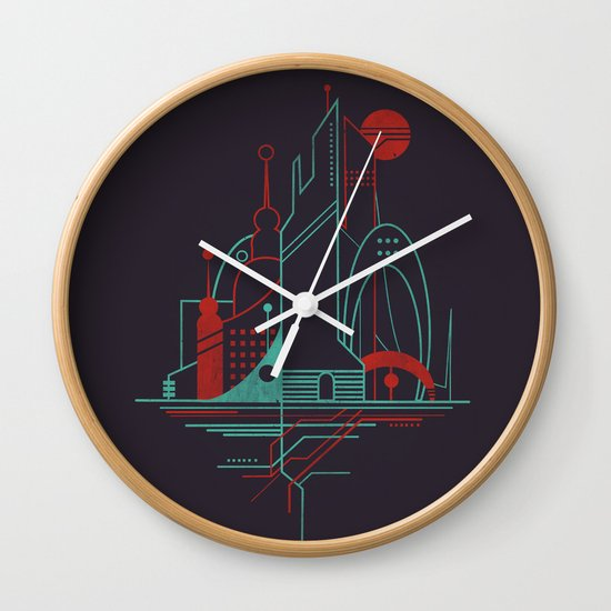 From the Subway to the Sky (at Night) Wall Clock