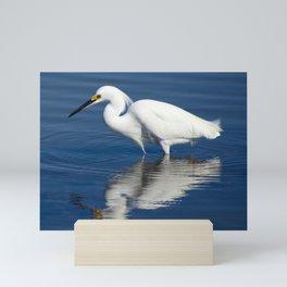 Bird series: Snowy Egret Mini Art Print