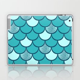 Turquoise  mermaid scale with  glitter effect Laptop & iPad Skin