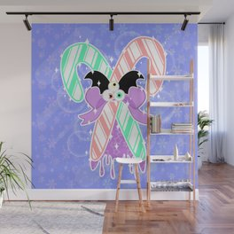 Candy Canes: Pastel Goth Version Wall Mural