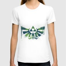 Zelda White SMALL Womens Fitted Tee