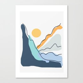 Minimalistic Landscape II Canvas Print