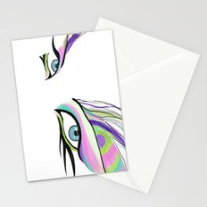 Peacock White  Stationery Cards
