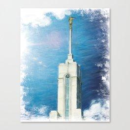 Mount Timpanogos Utah LDS Temple Canvas Print