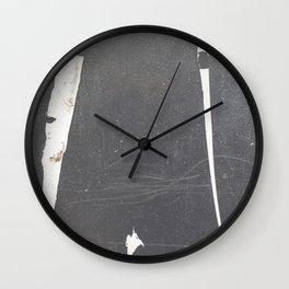 Paint Streaks & Dust 01 Wall Clock