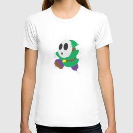 Green Shy Guy Splattery Design T-shirt