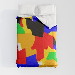 Cartoonish Wall of Colors Comforters