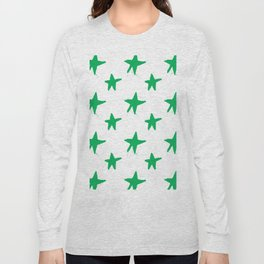 Green stars Long Sleeve T-shirt