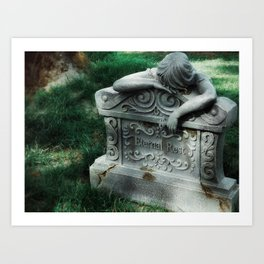 Eventually, There Is Nothing Left To Do But Sleep Art Print