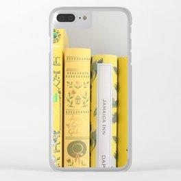 Shelfie in Yellow Clear iPhone Case