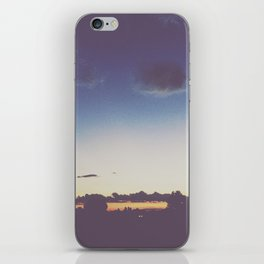 Blue + Gold Sunset iPhone Skin