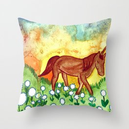 Far Away Land Throw Pillow