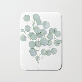 Eucalyptus 1 Watercolor Print by Liz Ligeti Kepler Bath Mat
