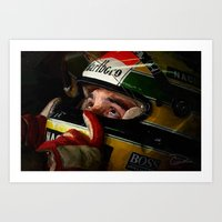 senna Art Prints featuring Senna by Charley Pallos