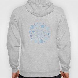 Blue snowflake doodle pattern Hoody