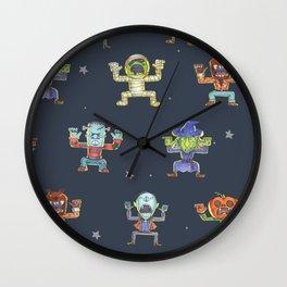 Halloween_pattern Wall Clock