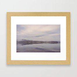 dawn cloud and mist. lake windermere, lake district, uk Framed Art Print