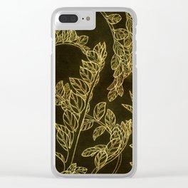 golden school plants Clear iPhone Case