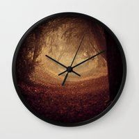 narnia Wall Clocks featuring Where's the white rabbit?  by Sparks of Fire