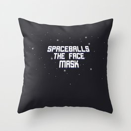 Space Mask Throw Pillow