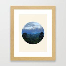 Rolling Hills Circle Photo Frame Framed Art Print
