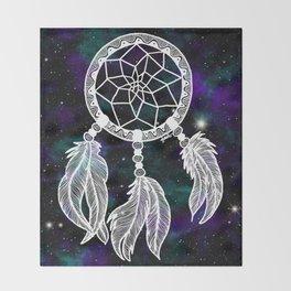 Galaxy Dreamcatcher Throw Blanket