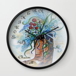 Southern Charm Y'all Wall Clock