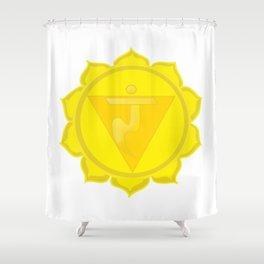 Manipura Chakra Solar Plexus chakra Yoga Shower Curtain