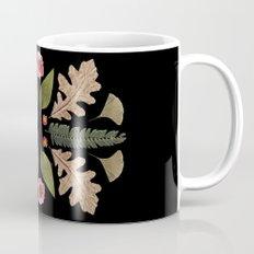 ROSE & LEAVES COLLAGE BLACK BACKGROUND Mug