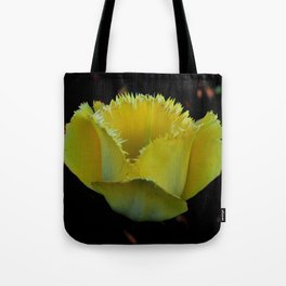 Frilly yellow Tote Bag