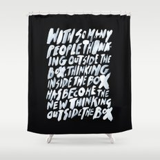 GET BACK IN THE BOX Shower Curtain
