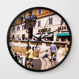 italy - rome - vacanze romane_39 Wall Clock