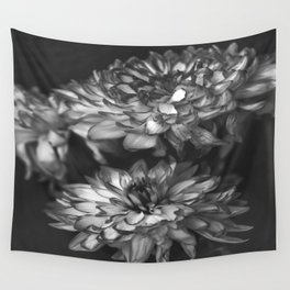 Monochrome Floral Wall Tapestry
