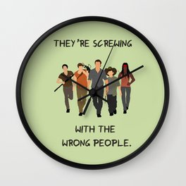 The Walking Dead - Carl, Rick, Michonne, Glenn, Daryl Wall Clock