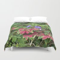 indonesia Duvet Covers featuring Christmas Star (Bali, Indonesia) by Christian Haberäcker - acryl abstract