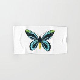 Queen Alexandra' s birdwing butterfly Hand & Bath Towel