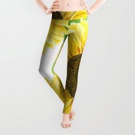 Sunflowers watercolor Leggings
