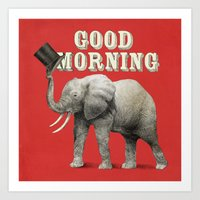 good morning Art Prints featuring Good Morning by Eric Fan