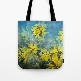 Dramatic Forsythia Tote Bag