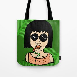 Lady with Palms Tote Bag