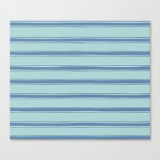 Cobalt blue french striped Canvas Print