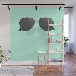 Aviator sunglasses Wall Mural