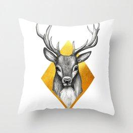 Totem - Deer Throw Pillow
